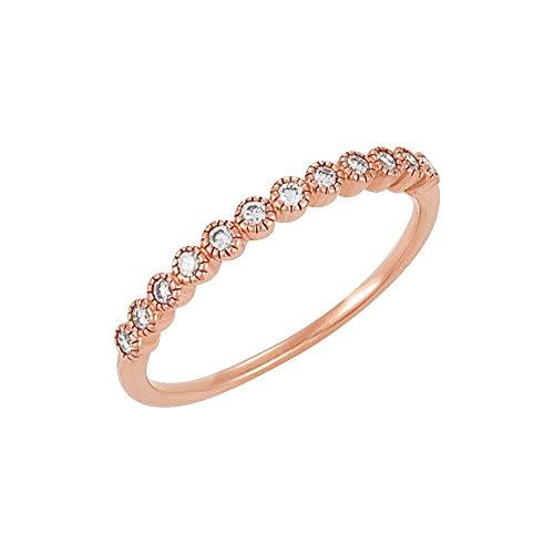 14ct anillo de diamantes en bruto 1/6ct - Talla L 1/2 - JewelryWeb