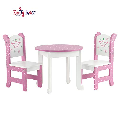 Emily Rose 18 Inch Doll Furniture for American Girl Dolls - 18 ' Doll Table and Chairs fits My Life and Journey Girls Dolls
