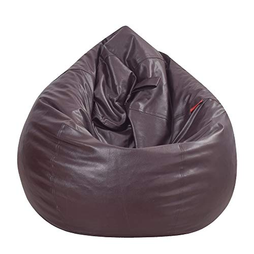 Couchette Large Bean Bag Cover Without Beans, Dark Brown (Without Fillers), Best for College Students