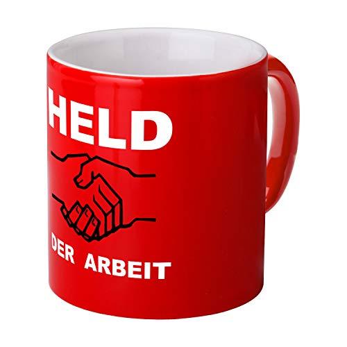 Ostprodukte-Versand.de Tasse Held der Arbeit rot - DDR Traditionsprodukte - DDR Waren
