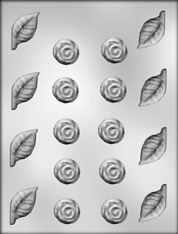 CK Products Roses And Leaves Chocolate Mold