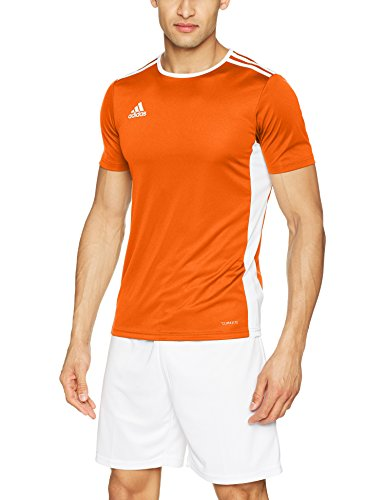 adidas Herren Entrada 18 Trikot, Orange/White, XL