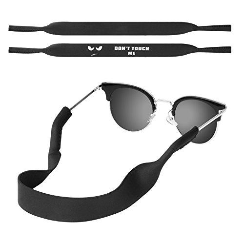MoKo Correa de Gafas de Sol, [2 Paquetes] Cómodo y Suave Cuerda de Gafas de 100% Neopreno, Mantiene Sus Gafas de Seguridad ya Sea IR a Correr, Esquiar, Subir, Ver Concierto, (Don