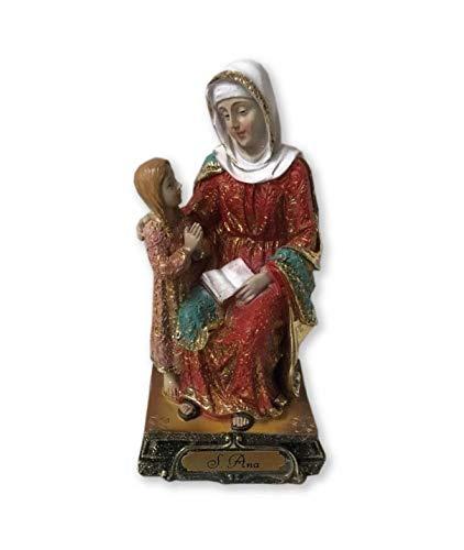Osiris Trading UK Heilige Anne Statue Katholische Heilige Skulptur Religiöse Santa Ana Ornament Figur für Zuhause oder Kapelle
