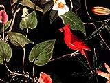 Textil London schwarzer italienischer Samt bedruckter Stoff