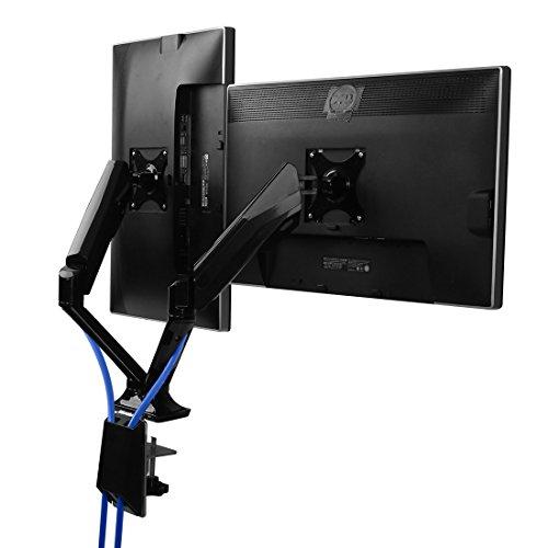 """Fleximounts F6D Gasdruck 10""""-30""""(25-76cm) Tischhalterung Monitorhalter Monitorhalterung Standfuß Fuer 2 Monitore LCD LED TV Bildschirme Flachbildschirm, Belastbarkeit:2-9 kg (für 2 Monitore 10""""-30"""")"""