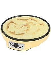 Bestron ASW602 crepemaker, elektrische crepe plaat, antiaanbaklaag, 1000W, geel