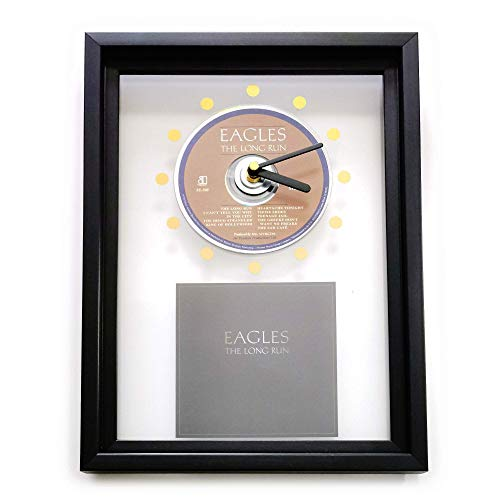 EAGLES - The Long Run: GERAHMTE CD-WANDUHR/Exklusives Design