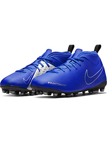 Nike Jr. Phantom Vision Club Dynamic Fit MG Fußballschuhe, Blau (Racer Blue/Racer Blue-Black 400), 36.5 EU