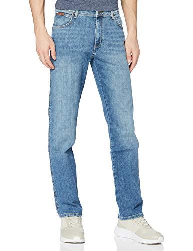 Wrangler Herren Texas Contrast' Jeans, Blau (Worn Broke), 32W / 34L