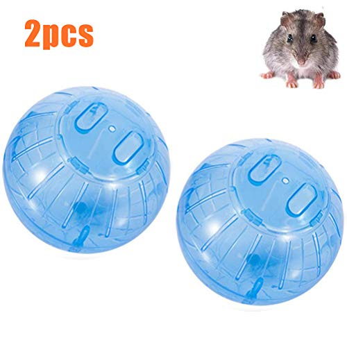 Jackallo 2 Stück Hamsterball Spielzeug Hamster Spielzeug Gymnastikball Mini Transparentes Plastikspielzeug Joggingball für Hamster