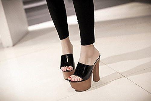 SCLOTHS Tongs Femme Chaussures D'épaisseur avec au Talon Haut étanche étanche étanche 540