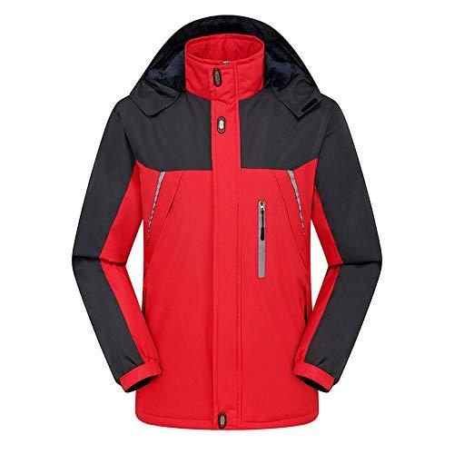 Winter Herren Outdoor Warme Skibekleidung Anden Verdickt Wasserdicht Reiten Bergsteigen Skifahren ReitenRot L