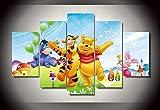 BAIOKAISHUII HD gedruckte Cartoon Poster Winnie The Pooh