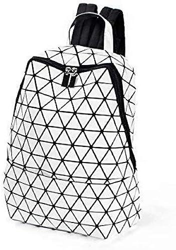 YHEGV 6 Couleurs - Mode géométrique rhombique Brillant Paillettes Lumineuses Sac à Dos Grande capacité Sac à Dos Campus Sac à Dos Mini Sac à Dos ZJ (Style  C)