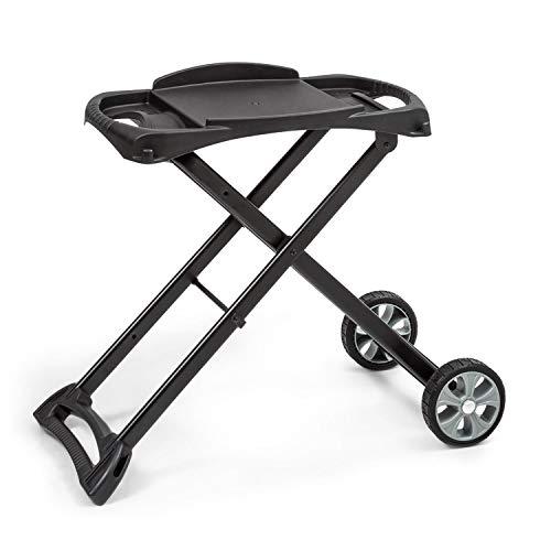 Klarstein Parforce Stand Grilltisch - Zubehör für Parforce One/Duo, 2 PE-Räder, zusammenklappbar, Material: pulverbeschichteter Stahl, schwarz