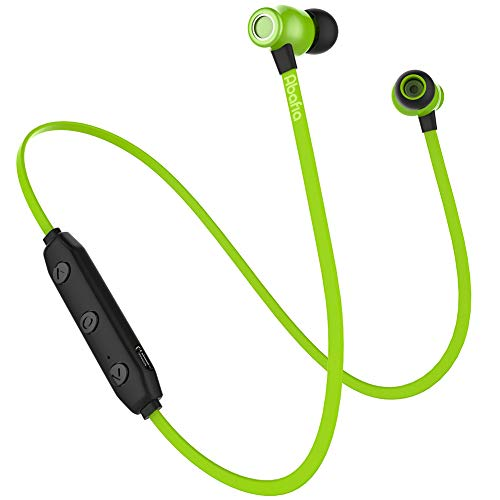 Abafia Auriculares Bluetooth, Auricular Deportivo Inalámbricos Auriculares Bluetooth V5.0 con Magnética Diseño In-Ear para iPhone XR/XS/Honor P30 / P30 Pro/Galaxy S9 / S8 / Redmi (Verde)