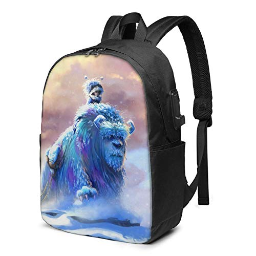 Aeenohik Monsters Laptop Backpack with USB Charging Port Headphone,Large Capacity Business Commute Backpack,College Women Men Backpack Travel Bag 17 Inch