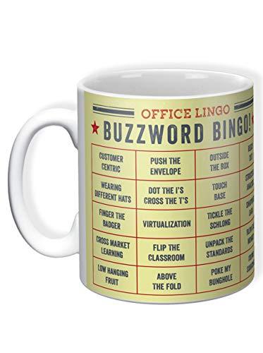 Humorvolle Geschenk-Tasse Buzzword Bingo