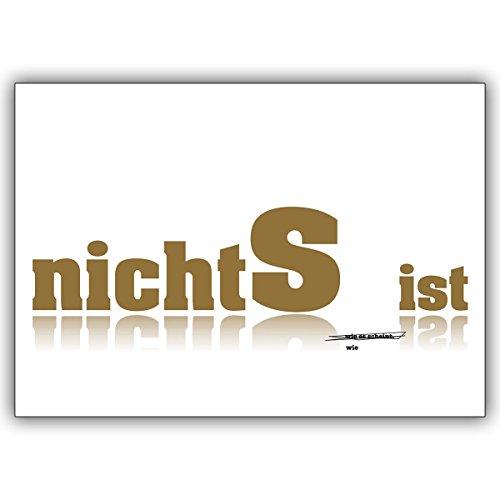 Wenskaarten met inkoopkorting: Laat je in tijden van nood met deze wenskaart in de kaarten kijken. • Mooie hoogwaardige wenskaart met envelop bij vele gelegenheden 16 Grußkarten
