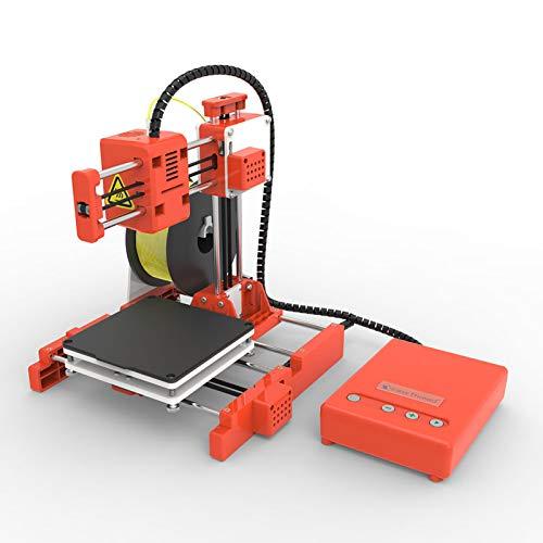 Walory Impresora 3D, Mini Desktop Impresora 3D para niños 100 * 100 * 100 mm Tamaño de impresión Impresión muda de alta precisión con tarjeta TF PLA Filamento de muestra para niños Principiantes C