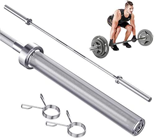 Yoleo 7ft Olympic Barbell Bar Standard Weight Bar for Power Lifting Weightlifting with Ring product image