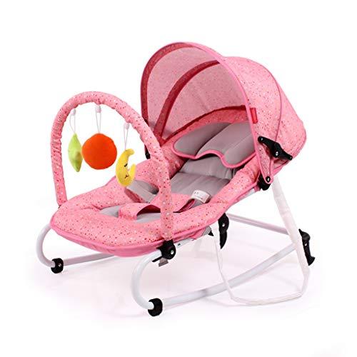Xiao Jian- Chaise à Bascule pour bébé Chaise pour bébé inclinable, Chaise Confort, Berceau pour Nouveau-né Shake Shaker Swing Chaise berçante bébé (Couleur : Pink)