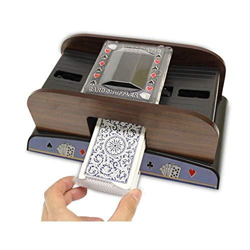 mooderff Automatische Kartenmischmaschine, Hölzerner Elektrischer Gametic-Kartenmischer, Professioneller Kartenmischer