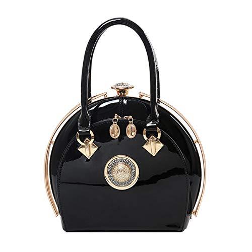 NIYUTA Damenhandtaschen Lackleder Diamant Mode Shopper Reise Designer Freizeit Vintage Henkeltaschen