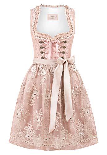 Stockerpoint Damen Dirndl Lilou Kleid für besondere Anlässe, Altrosa, 46