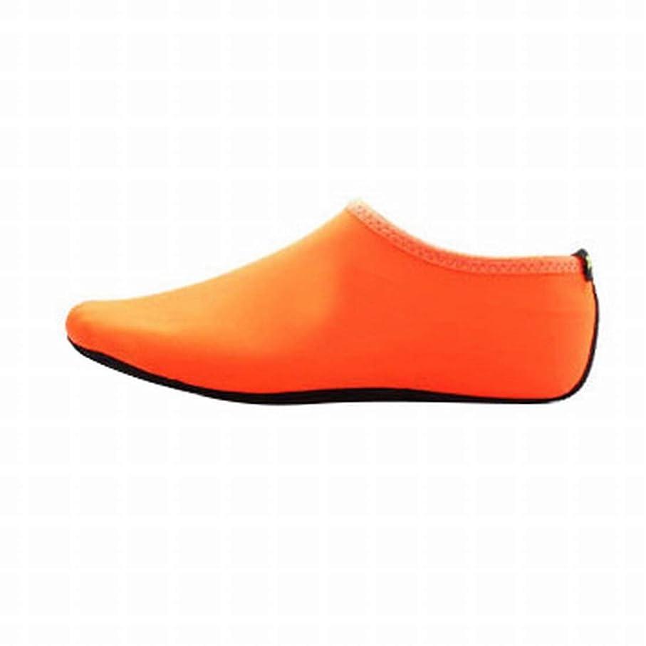 抑止する後方に兵隊Kainuoo 新ビーチソックスシュノーケリングシューズカバー機器水泳ダイビングソックスシュノーケリングソックス水泳ソックスセットスリップ (Color : Orange, Size : L)