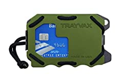 Multi-functional, front-pocket tactical wallet with a slim profile and RFID-protection Features an easy access ID window, integrated bottle opener, durable pry bar, attachment point, and security clasp Anodized aircraft-grade aluminum (or high-pressu...