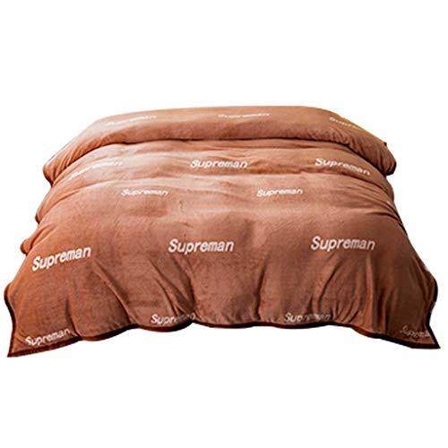 Decken Schlafsäcke Matratzen Kissen Blanket,flauschig weiche warme Throw Mikrofaser Korallensamt Größen Kuscheldecke (Size : 120 * 200cm)