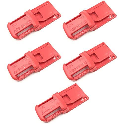 Cobeky Paquete de 5 soportes de batería para soporte de batería de 18/20 V para herramientas de la serie M18 de 18 V, color rojo