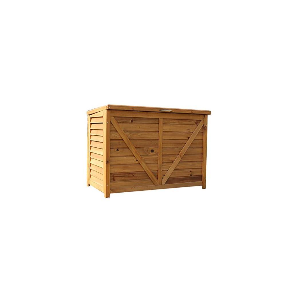 Abris de jardin Boîte De Rangement Armoire De Rangement Extérieure En Bois Massif De Grande Capacité Rangement De Balcon…