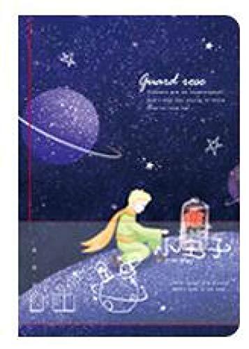 LJQLXJ cuaderno Cuaderno de páginas en blanco colorido de Little Prince y rosa 160P portátil Hardcvoer diario libro regalo 134mm * 187mm * 20mm, C