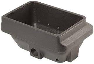 Hoguera de hierro fundido para estufa de pellets H Color 75,5mm boca color 142x 84mm–Chapa de 6mm