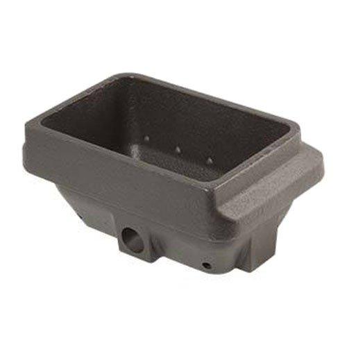 Braciere in ghisa crogiolo braciere per stufa a pellet 16,5 x 10,6cm H: 75mm bocca: 142x84mm