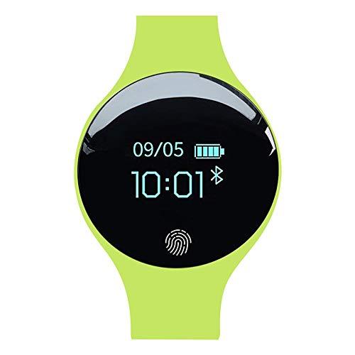 Oyznsb Smartwatch voor dames en heren, bluetooth, intelligent polshorloge, voor sport, fitnesstracker voor iOS en iPhone, Groen