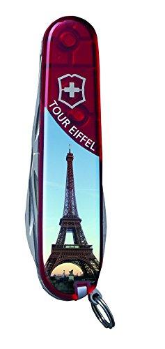 Victorinox Couteau de Poche Spartan (12 Fonctions, Grande Lame, Tire-Bouchon, ouvre-boîtes) Motif Tour Eiffel