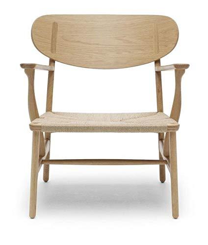 Carl Hansen CH22 stoel, geolied eiken/natuur vlechtwerk