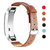 Mornex Bracelet Compatible Fitbit Alta Fitbit Alta HR,Bande Remplacment en Cuir Réglable...
