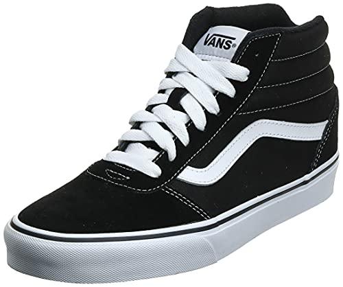Vans Ward Hi Suede/Canvas, Sneaker Uomo, Nero (Black/White C4R), 42 EU