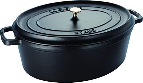 STAUB Gusseisen Bräter/Cocotte, Oval 41 cm, 12 L, schwarz