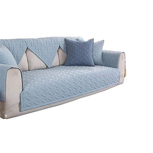Fundas de sofá Modernas con Funda de algodón Universal para Sala de Estar,Fundas de sofá seccionales en Forma de L de 1/2/3/4 plazas,Azul Claro,70x210cm