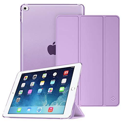 Fintie - Funda para iPad Mini 4 (ligera, con protector traslúcido, función de encendido y apagado automático), color violeta