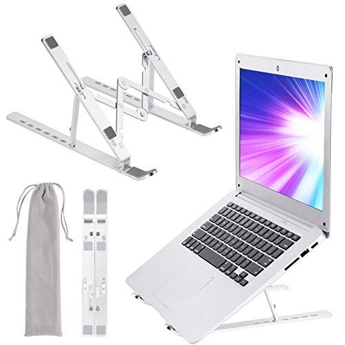 EWENYS Tragbarer Laptop ständer höhenverstellbar faltbar Aluminium ,Notebook Ständer , Kompatibel mit MacBook Pro Air, Lenovo, Dell, 10-17 Zoll Laptops, Tablets