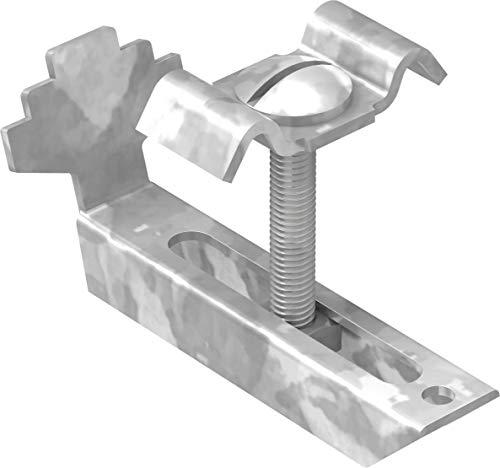 FeNau | Gitterrost-Klemmen-Unterteil für Rosthöhe 30mm und MW: 30/10 mm, S235JR, feuerverzinkt, Gitterrost-Sicherung, Gitterrost-Befestigung
