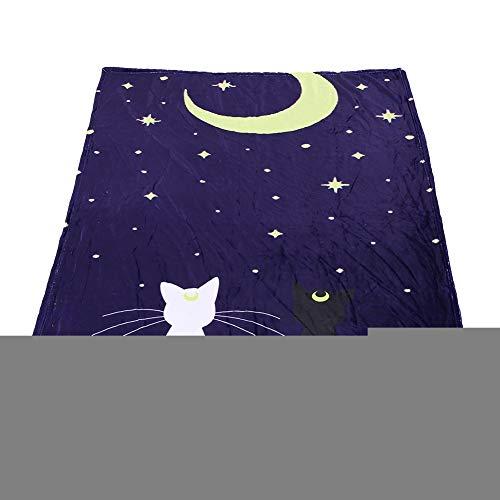 Smandy huisdier matras, zacht warm blauw hond mat mooi kat patroon airconditioning puppy deken, 150 x 200 cm.