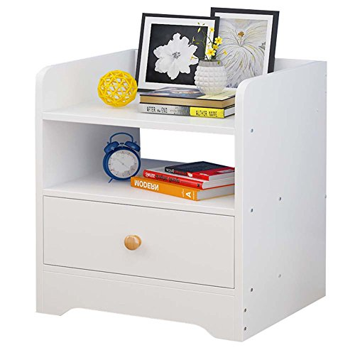 Table de chevet JCOCO Mini à Base de Bois, avec tiroir et étagère de Rangement, de Stockage de casier de Chambre à Coucher (Couleur : #2)